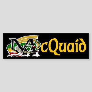 McQuaid Celtic Dragon Gold Bumper Sticker