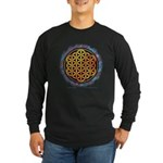 Long Sleeve Dark T-Shirt - The Flower Of Life