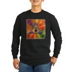 Long Sleeve Dark T-Shirt - Teleportation