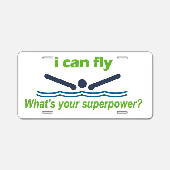 I Can Fly Aluminum License Plate