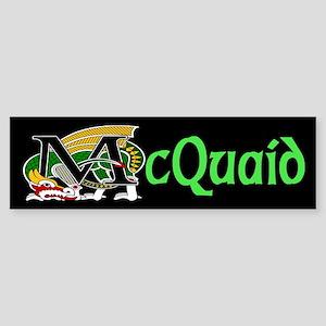 McQuaid Celtic Dragon Green Bumper Sticker