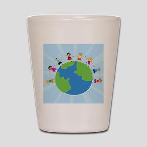 Kids Around the World Shot Glass