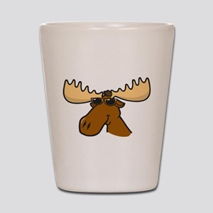 Moose with Shades Shot Glass