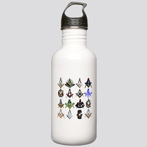 Masonic Square and Compass Stainless Water Bottle