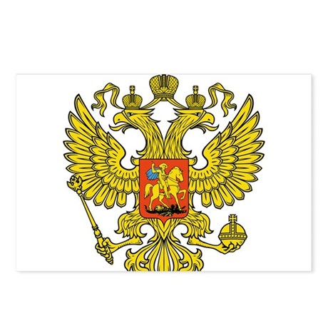 Russia Russland Logo Wappen Postcards (Package of