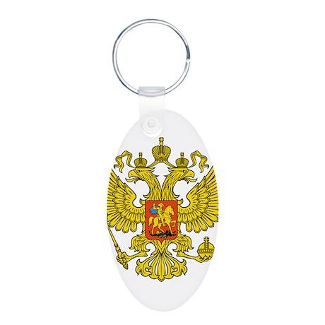 Russia Russland Logo Wappen Aluminum Oval Keychain