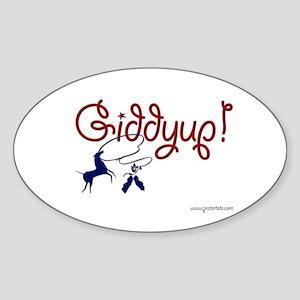 Giddyup! Oval Sticker