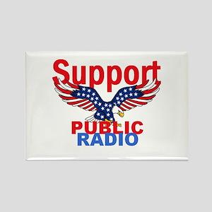 Public Radio Rectangle Magnet