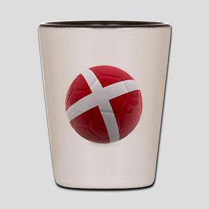 Denmark World Cup Ball Shot Glass