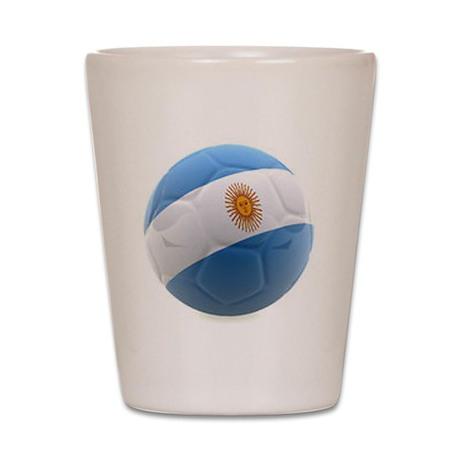 Argentina world cup soccer ball Shot Glass