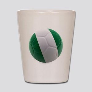 Nigeria World Cup Ball Shot Glass