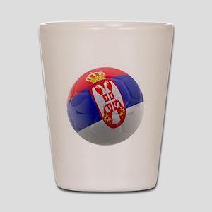 Serbia World Cup Ball Shot Glass