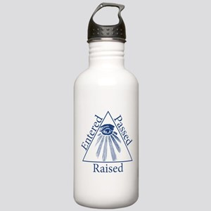 Entered Passed Raised Stainless Water Bottle 1.0L