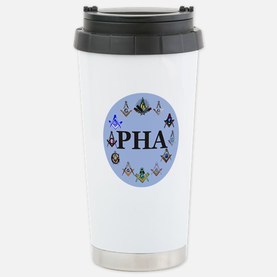 PHA Square and Compass Stainless Steel Travel Mug