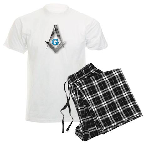 Masonic Square and Compass Men's Light Pajamas