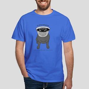 Conehead Black Pug Dark T-Shirt