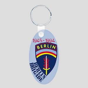 BerlinBrigade.com Aluminum Oval Keychain