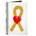 Gold Ribbon Heart Journal