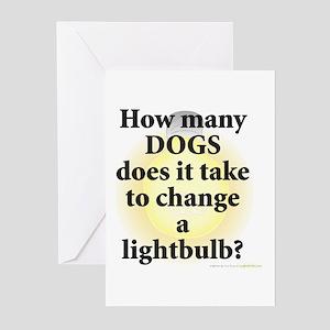 Dogs Change Lightbulb Greeting Cards (Pk of 10)