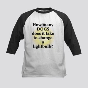 Dogs Change Lightbulb Kids Baseball Jersey