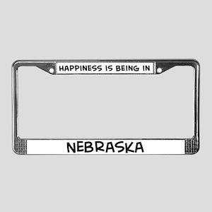 Happiness is Nebraska License Plate Frame