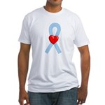 Lt Blue Ribbon Fitted T-Shirt