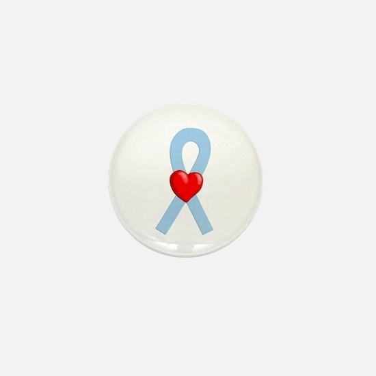 Lt Blue Ribbon Mini Button