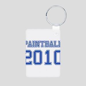 """""""Paintball 2010"""" Aluminum Photo Keychain"""