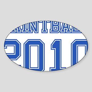 """Paintball 2010"" Sticker (Oval)"
