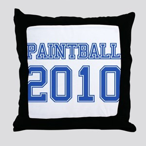 """Paintball 2010"" Throw Pillow"