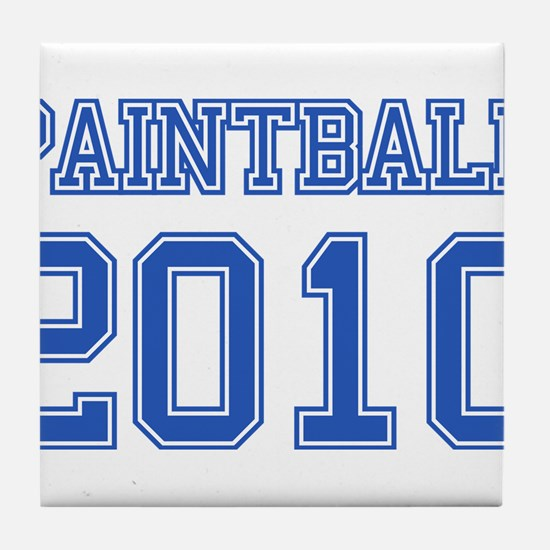 """Paintball 2010"" Tile Coaster"
