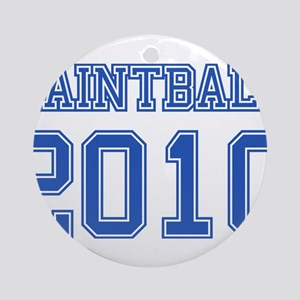 """""""Paintball 2010"""" Ornament (Round)"""