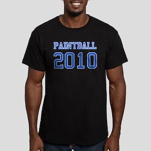 """Paintball 2010"" Men's Fitted T-Shirt (dark)"