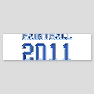 """""""Paintball 2011"""" Sticker (Bumper)"""