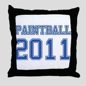 """Paintball 2011"" Throw Pillow"