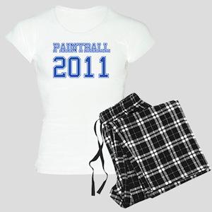 """""""Paintball 2011"""" Women's Light Pajamas"""