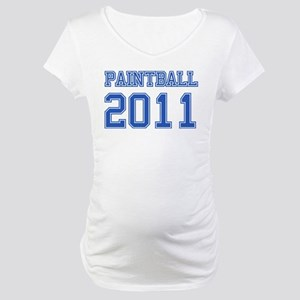 """Paintball 2011"" Maternity T-Shirt"