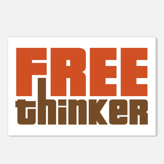 Free Thinker Postcards (Package of 8)
