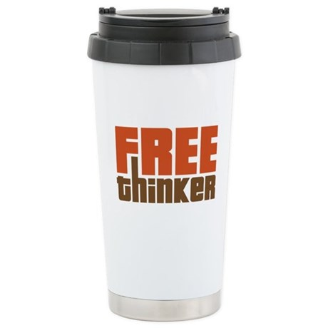 Free Thinker Stainless Steel Travel Mug