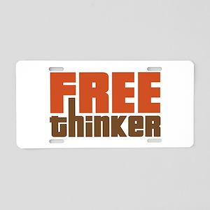 Free Thinker Aluminum License Plate