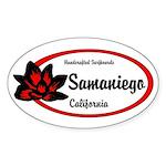 Samaniego Surfboards Oval Sticker