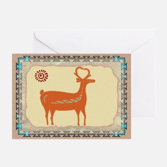 Santo Domingo Deer Greeting Cards (Pk of 10)