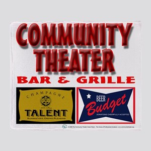 Community Theater Bar and Grill Throw Blanket