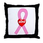 Pink Hope Throw Pillow