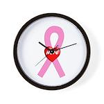 Pink Hope Wall Clock