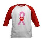 Pink Hope Kids Baseball Jersey