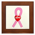 Pink Hope Framed Tile