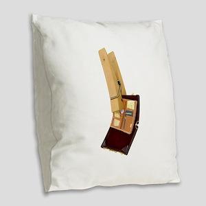 BusinessTravelMinder080209 Burlap Throw Pillow