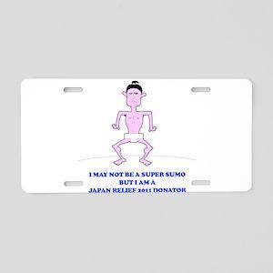 Super sumo - Japan relief 201 Aluminum License Pla