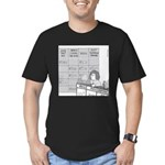 Jeopardy Squirrel - no text Men's Fitted T-Shirt (